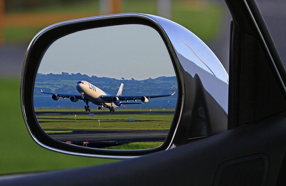 LAN plane landing at Auckland Airport