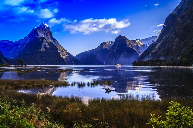 View of Mitre Pak from Milford Sound