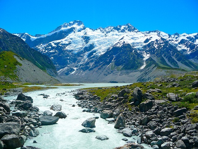 Mount Cook in winter time